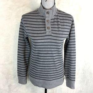 🌈 Cherokee Women's Mock Neck Sweater Striped